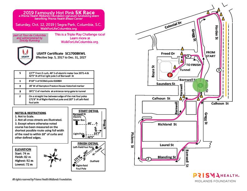 2019 Walk for Life and Famously Hot Pink Half Marathon, 5K +